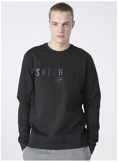 Skechers Skechers Erkek Siyah Sweatshırt Siyah